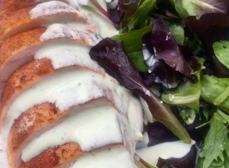 Smoked chicken breast with burrata cream